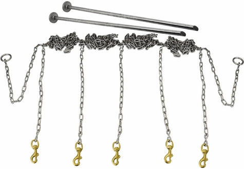 Stainless Steel Chain Gang 5-dog