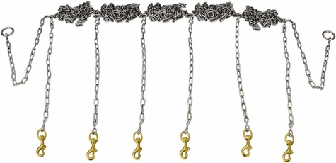 Stainless Steel Chain Gang 6-dog -- Chain Only