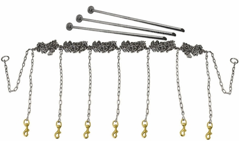 Stainless Steel Chain Gang 7-dog