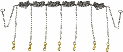 Stainless Steel Chain Gang 7-dog -- Chain Only