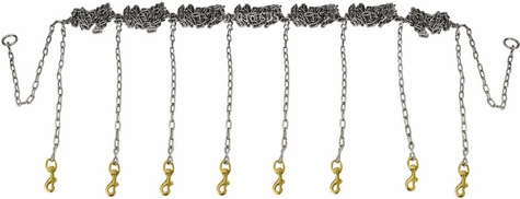 Stainless Steel Chain Gang 8-dog -- Chain Only