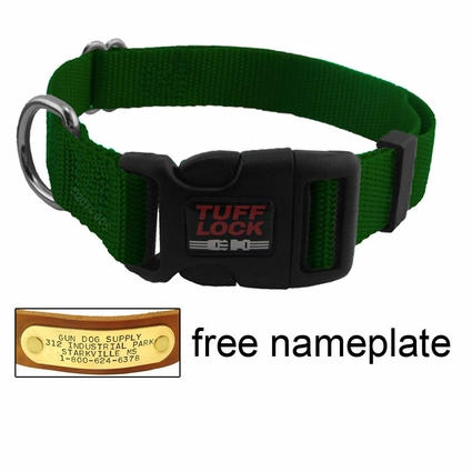 Large Tuff Lock Quick Release Adjustable Collar -- 1 in. Wide