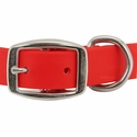 buy discount  Tufflex Red Center Ring Collar Front of Buckle Detail