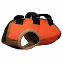 TurtleSkin® Snake Armor Orange Dog Vest -- Regular Chest