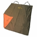 Two Barrel Double Seat Cover Brown Orange Flap