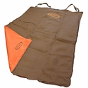 buy discount  Two Barrel Double Seat Cover Brown Orange Flap