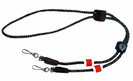 Ultimate Double Whistle Lanyard with Counters and Compass by Mendota