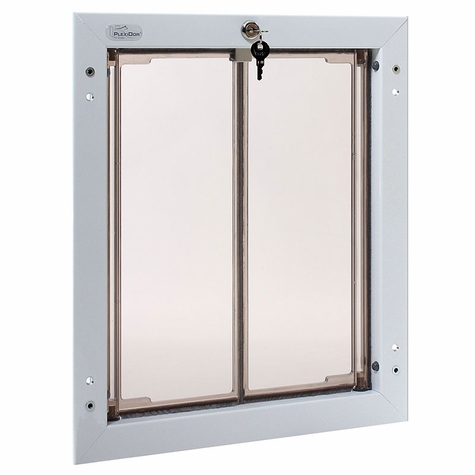 WHITE Large Plexidor Wall Mount Dog Door