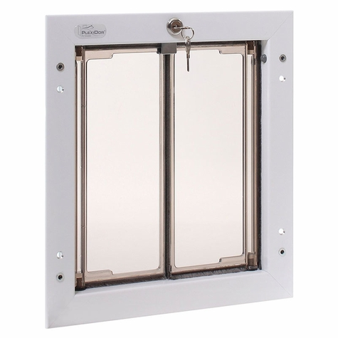 WHITE Medium Plexidor Wall Mount Dog Door