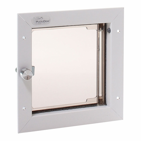 WHITE Small Plexidor Wall Mount Dog Door