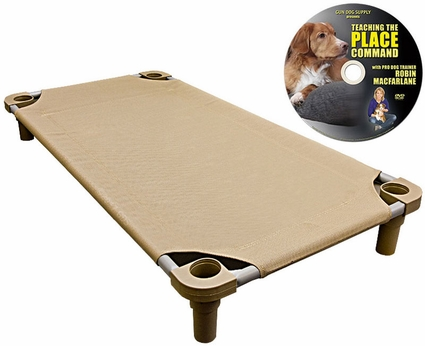 X-Large 52 in. x 30 in. Rectangle Premium Weave Cot by 4Leggs4Pets