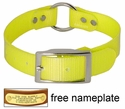 YELLOW 1 in. Day Glow Center Ring Collar