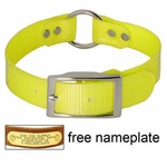 shop YELLOW 1 in. Day Glow Center Ring Collar