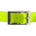 buy discount  YELLOW 1 in. Day Glow Center Ring Collar Buckle Front