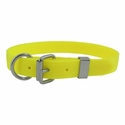 buy discount  CLEARANCE -- Yellow 1 in. K-9 Komfort EverFlex D-end Dog Collar with Stainless Steel Hardware