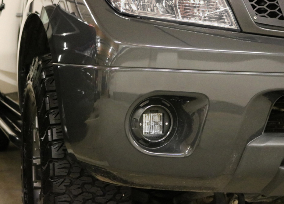 Nissan led light mounts brackets by rigid industries for Factor motors le center mn