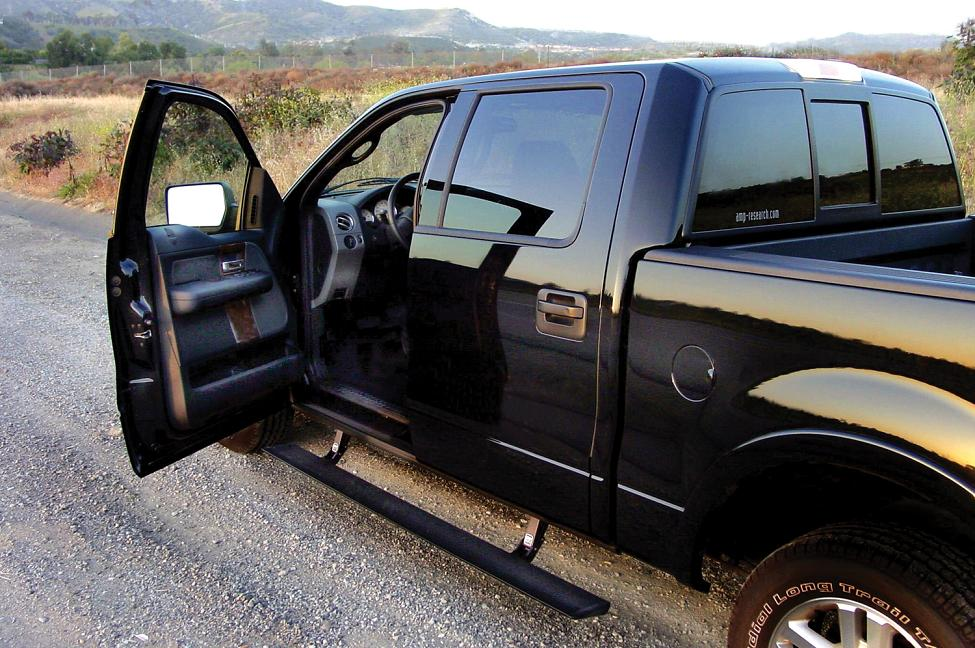 powerstep electric running boards by amp research for ford 2009 2014 ford f 150 super cab. Black Bedroom Furniture Sets. Home Design Ideas