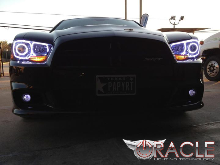 Oracle halo lights for 2011 2014 dodge charger 2011 2014 dodge 2011 2014 dodge charger led halo kit for headlights by oracle publicscrutiny Images