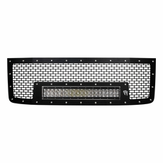 Radius led grilles featuring rigid curved led light bars by rigid 2011 2014 gmc sierra 2500 3500 rigid industries led grille w 20 aloadofball Image collections
