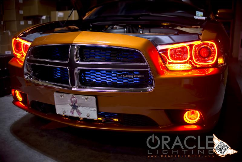 Dodge Charger Smd Led Halo Headlight Light Kit By Oracle on oracle headlight halo kits