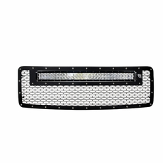 Radius led grilles featuring rigid curved led light bars by rigid 2013 2014 ford f 150 no raptor rigid industries led grille aloadofball Image collections