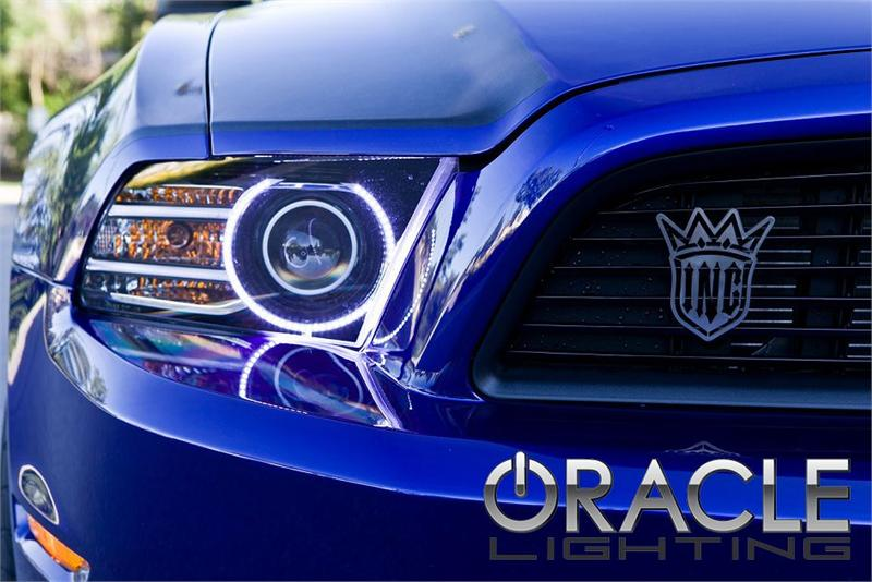 14 Mustang Headlights >> Oracle Halo Lights For Ford Mustang 2013 2014 Ford Mustang Led