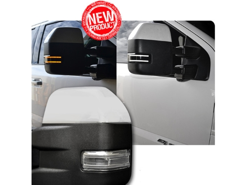 Recon Led Side Mirror Lenses Recon Smoked Led Side View Mirror Lenses   Ford F  F  Superduty