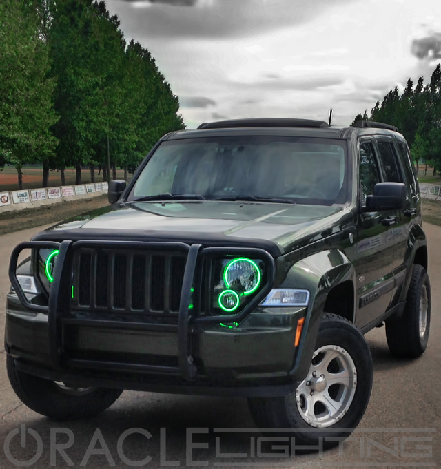 2008 Jeep Liberty For Sale >> Oracle Halo HeadLights (Complete Assemblies) for Jeep Liberty - 2008-2010 Jeep Liberty Oracle ...