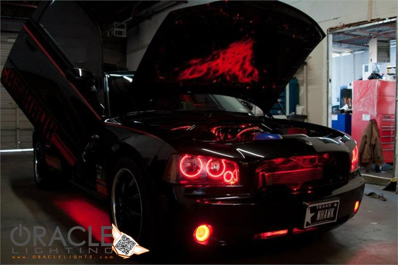 Oracle Halo Lights for 2005-2010 Dodge Charger - 2005-2010 Dodge Charger TRIPLE LED Halo Kit for ...