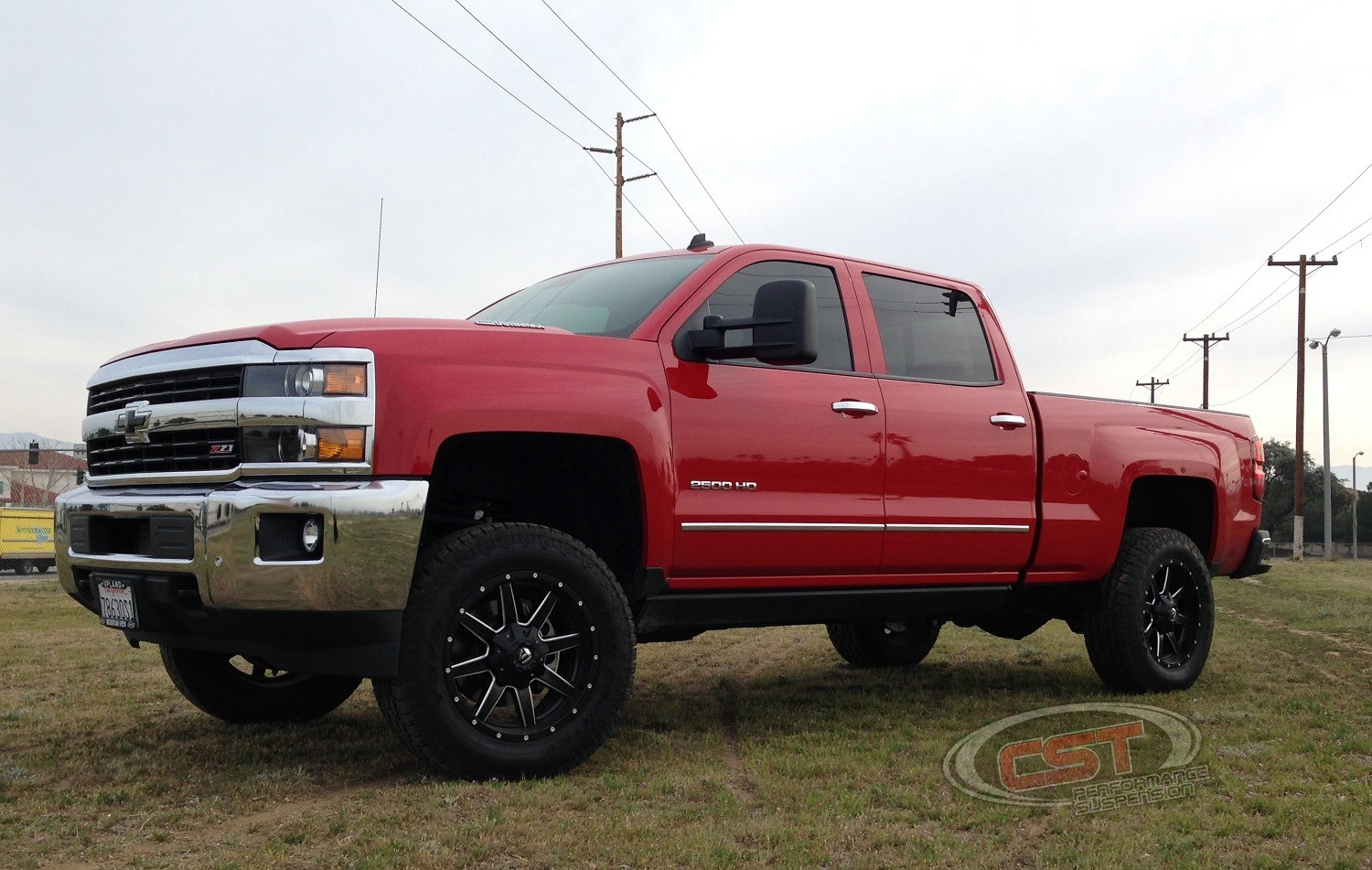 2011 2017 chevy silverado gmc sierra 2500hd 2wd and 4wd stl stock torsion location lift kit w 2 0 emulsion shocks by cst suspension 3 6 front lift 1