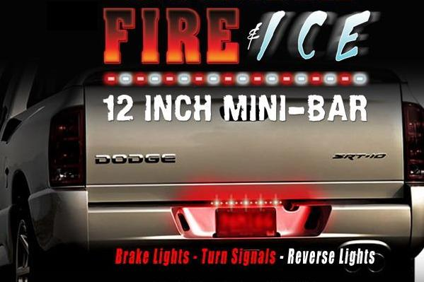 Tailgate light bars and side bars fire and ice 12 led tailgate 2 available billmelater aloadofball Image collections