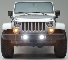 Night Hawk Light Brow for Jeep Wrangler by UnderCover