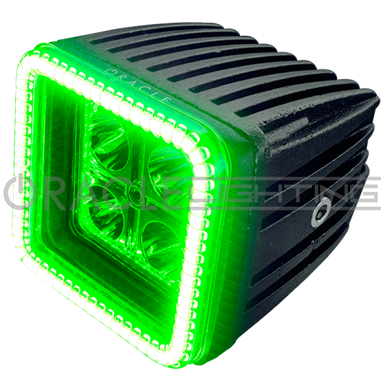 Square led lights by oracle off road 3 square led off road spot 3 square led off road spot light 20 watt w led halo by oracle lighting aloadofball Choice Image