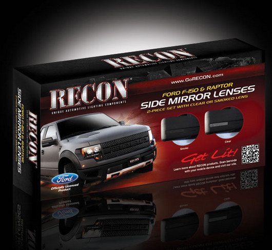 Recon Side View Mirror Lenses Lenses Only   Ford F  Raptor