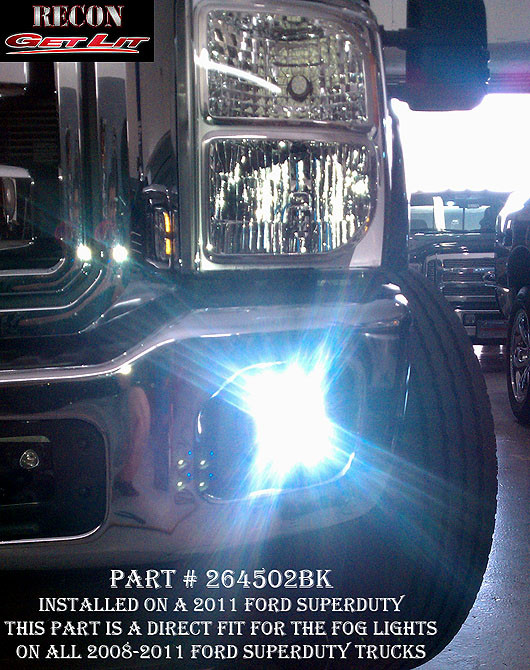 Recon Smoked Led Fog Lights   Ford F  F  Superduty