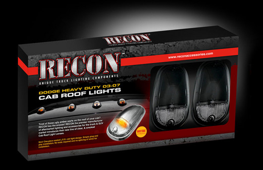 Recon Truck Cab Roof Lights For Dodge 2003 2018 Dodge