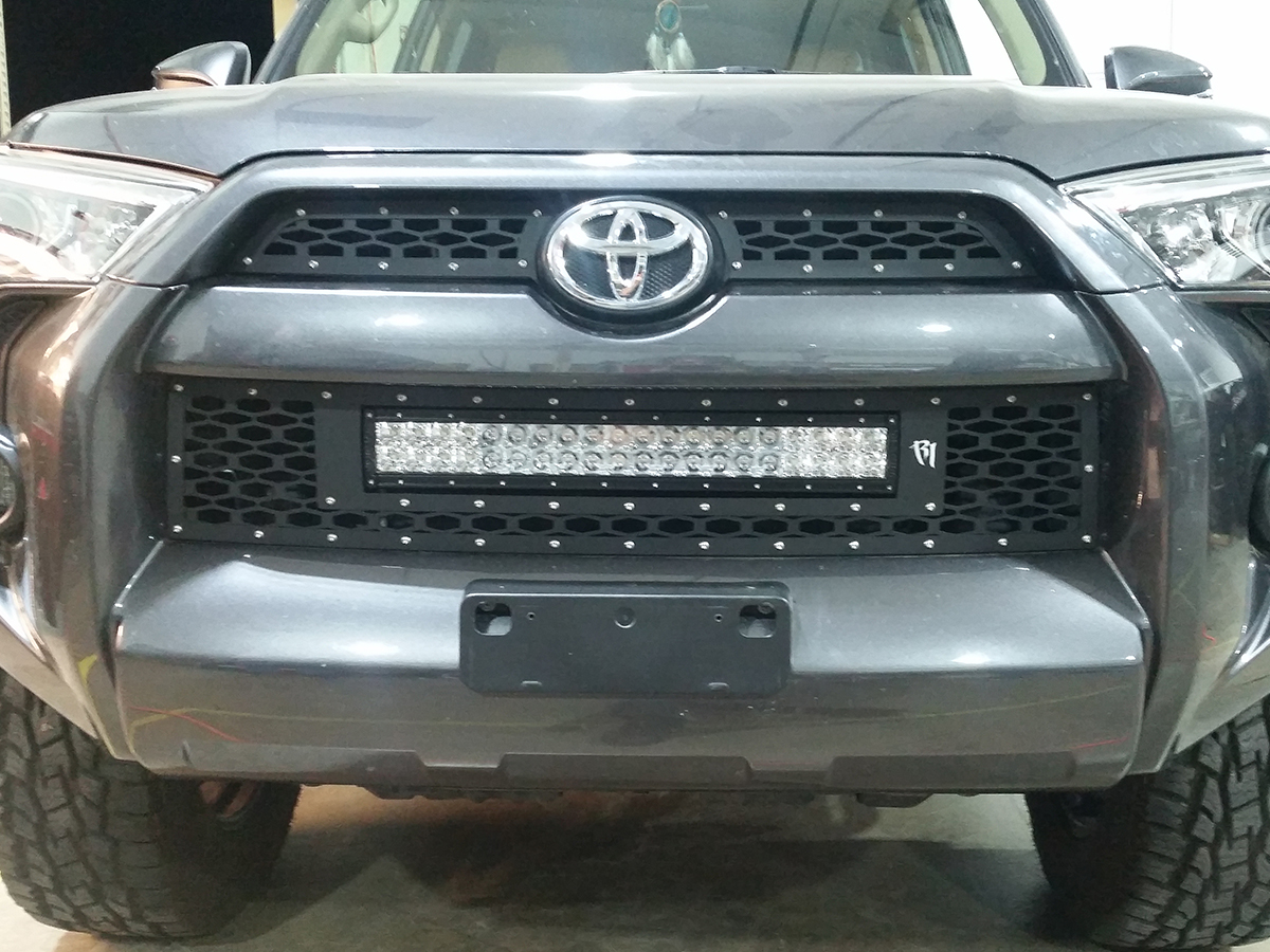 2010 2016 toyota 4 runner led light mounts brackets by rigid 2014 2015 toyota 4runner rigid industries replacement grille mozeypictures Choice Image