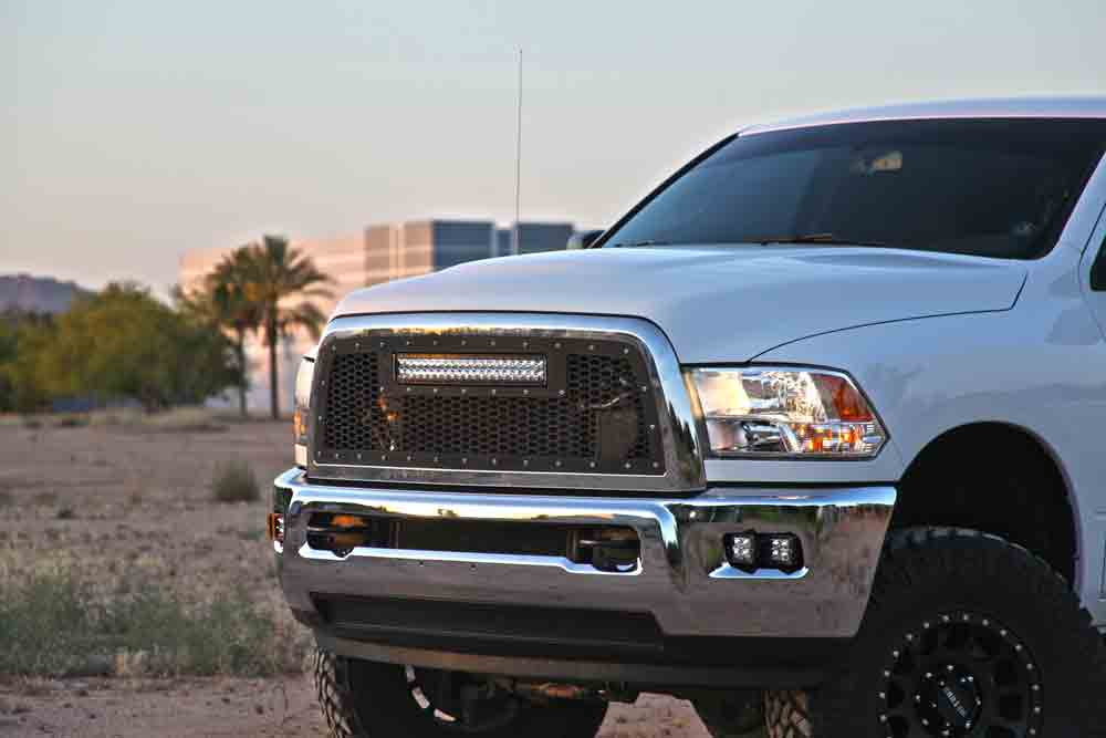 Radius led grilles featuring rigid curved led light bars by rigid 2010 2012 dodge ram 2500 3500 rigid industries led grille w 20 curved led light bar aloadofball