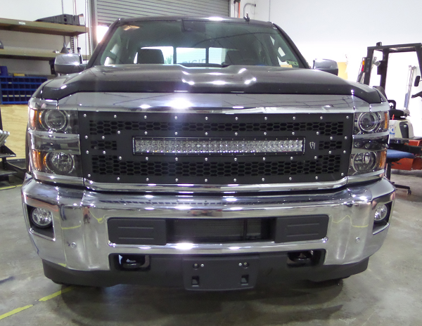 Radius led grilles featuring rigid curved led light bars by rigid radius led grilles featuring rigid curved led light bars by rigid industries for chevy 2015 2016 chevy silverado 2500 3500 rigid industries led grille aloadofball Gallery