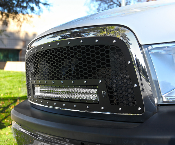 Radius led grilles featuring rigid curved led light bars by rigid 2009 2012 dodge ram 1500 rigid industries led grille w 30 curved led light bar aloadofball Image collections