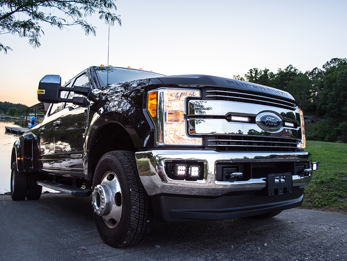 2017 2018 ford f 250 f 350 superduty led light mounts brackets by 2017 2018 ford f 250 f 350 superduty grille light bar kit by rigid industries aloadofball Image collections