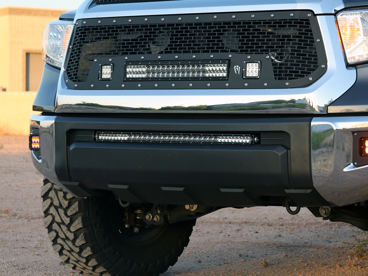 2007 2016 toyota tundra led light mounts brackets by rigid 2014 2016 toyota tundra led light bar bumper mounting bracket by rigid industries aloadofball Images