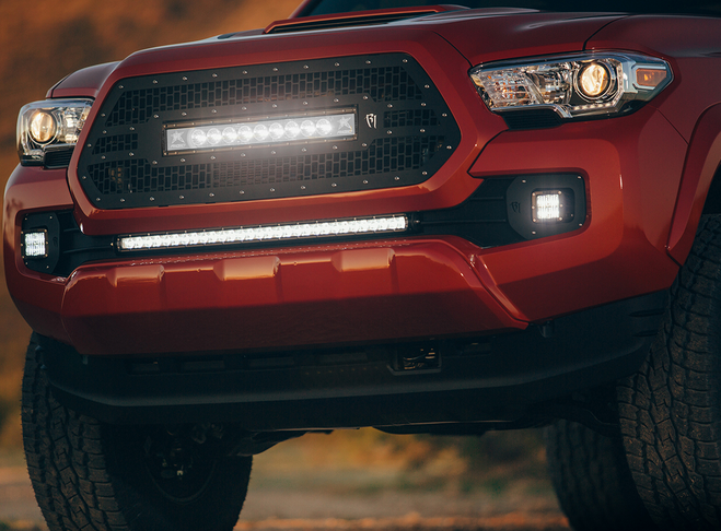 2005 2018 toyota tacoma led light mounts brackets by rigid 2005 2018 toyota tacoma led light mounts brackets by rigid industries 2016 2017 toyota tacoma 30 sr series led light bar w bumper mount kit by rigid aloadofball Image collections