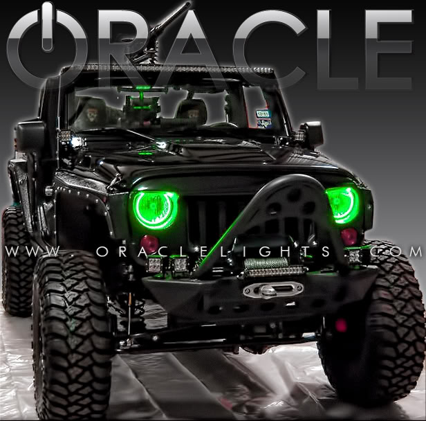 oracle halo headlights (complete assemblies) for jeep wrangler