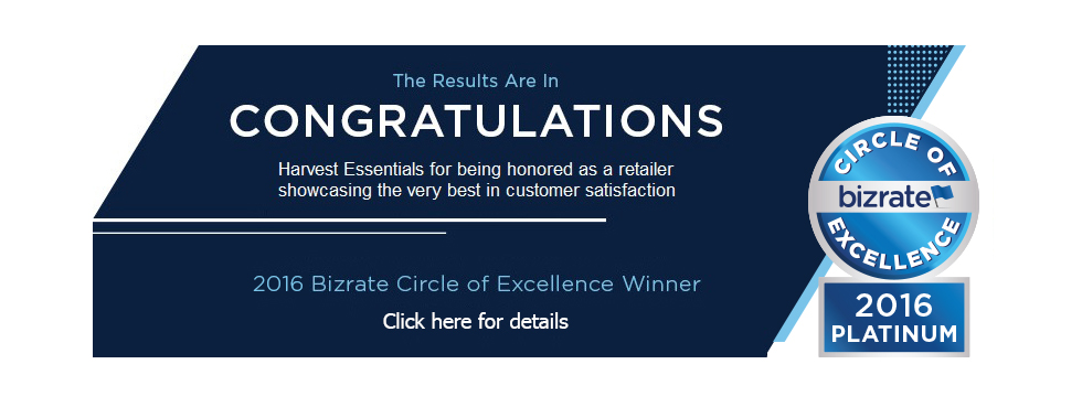 Harvest Essentials 2016 Bizrate Circle Of Excellence Winner