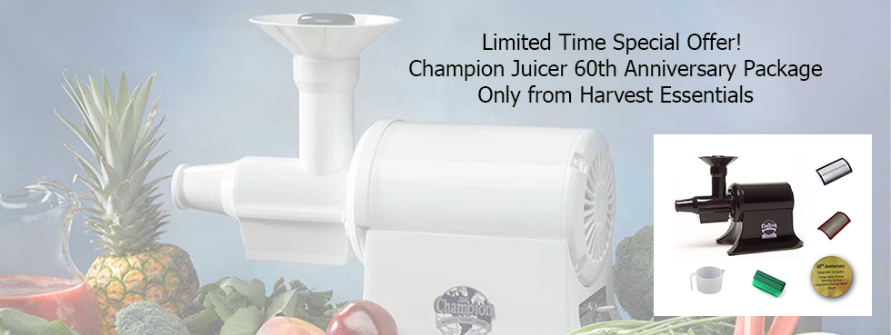 Champion Commmercial Juicer 60th Anniversary Package