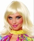 1970's Short Feathered Wig, Blonde