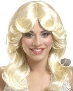70's Feathered Blonde Wig