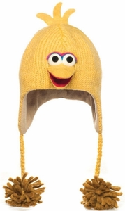 Kid's Big Bird Knit Pilot Hat by Delux