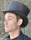Black Leather Coachman Top Hat
